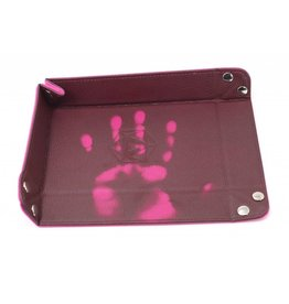Die Hard Dice Folding Rectangle Dice Tray Pink with Pink Velvet Heat Change
