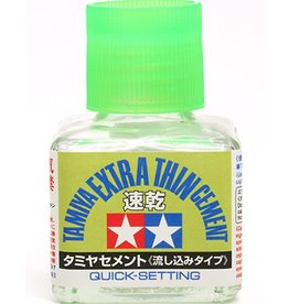 Tamiya TAMIYA EXTRA THIN CEMENT QUICK SET 40ML