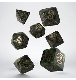 Q-Workshop DICE: DRAGONS DICE BOTTLE-GREEN/GOLD