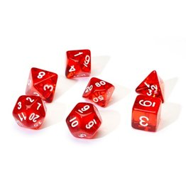 Sirius Dice 7PC RPG DICE - TRANSLUSCENT RED
