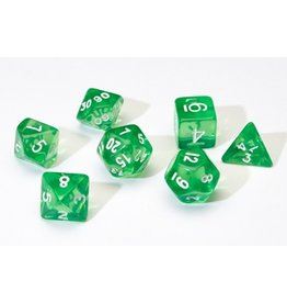 Sirius Dice 7PC RPG DICE - TRANSLUSCENT GREEN