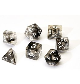 Sirius Dice 7PC RPG DICE - TRANSLUSCENT BLACK CLOUD