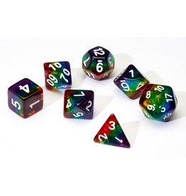 Sirius Dice 7PC RPG DICE - TRANSLUSCENT RAINBOW