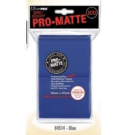 Ultra Pro PRO-MATTE BLUE STANDARD SLEEVES 100CT 66X91MM
