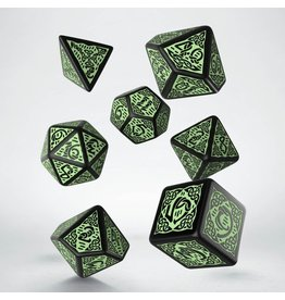 Q-Workshop CELTIC DICE 3D REVISED BLACK & GREEN