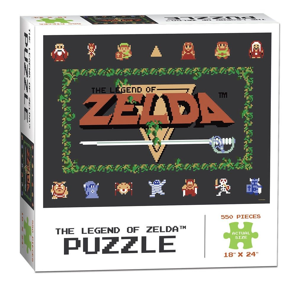 Usaopoly Puzzle 550pc Legend Of Zelda Classic Apt To Game