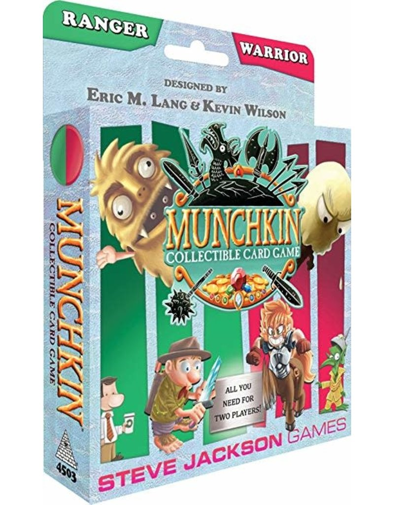 Steve Jackson Games Munchkin CCG Collectible Card Game Ranger and Warrior Starter Set