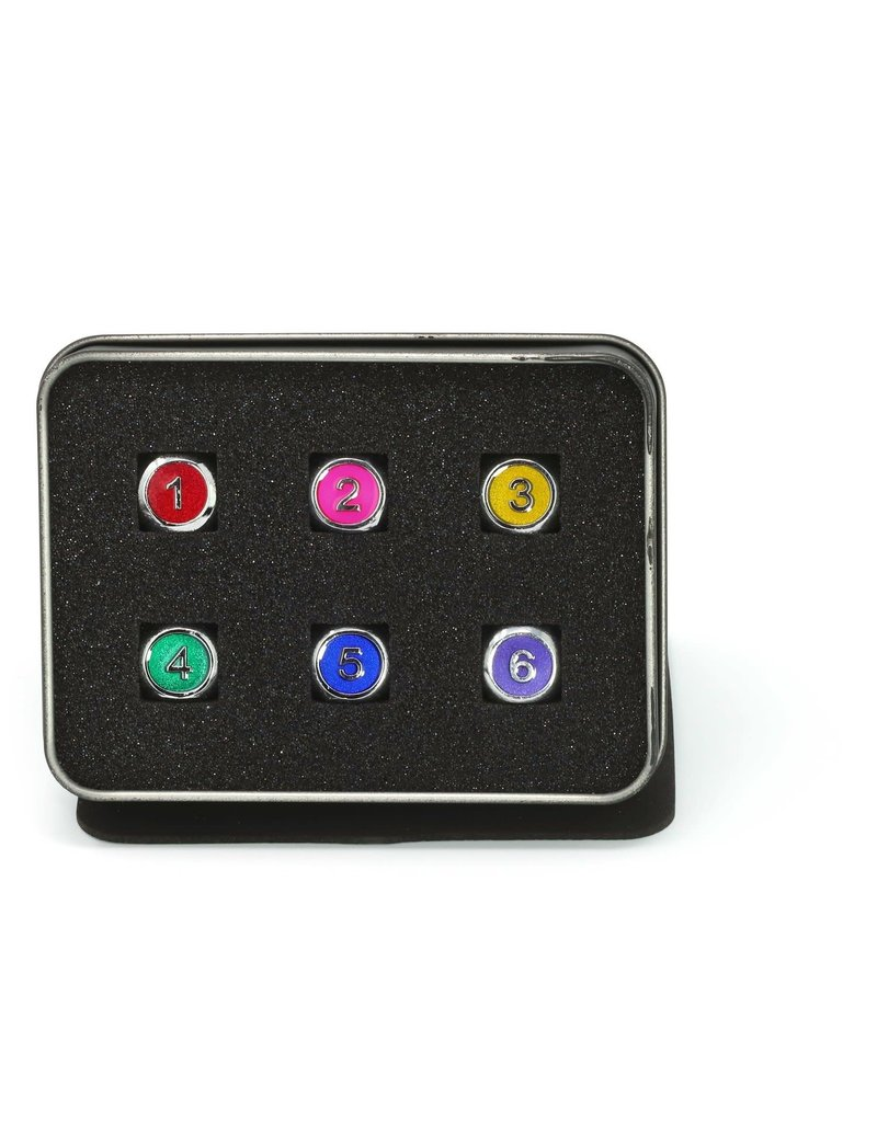 Die Hard Dice METAL GEMSTONE DICE SET 6D6 - RAINBOW W/PINK