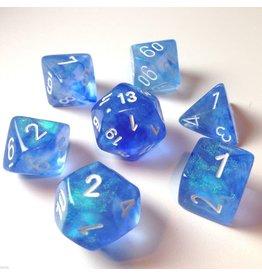 Chessex Borealis: 7Pc Sky Blue / White