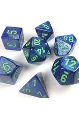 Chessex LUSTROUS: 7PC DARK BLUE / GREEN