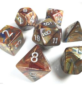 Chessex Lustrous: 7Pc Gold / Silver