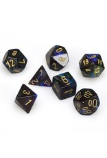 Chessex LUSTROUS: 7PC SHADOW / GOLD