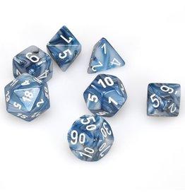 Chessex Lustrous: 7Pc Slate / White