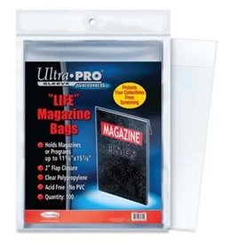 "Ultra Pro Sleeve: Magazine Bags 11-1/8"" X 15-1/8"" 100ct"