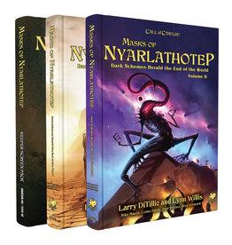 Chaosium CALL OF CTHULHU: MASKS OF NYARLATHOTEP RPG 3 BOOK SET