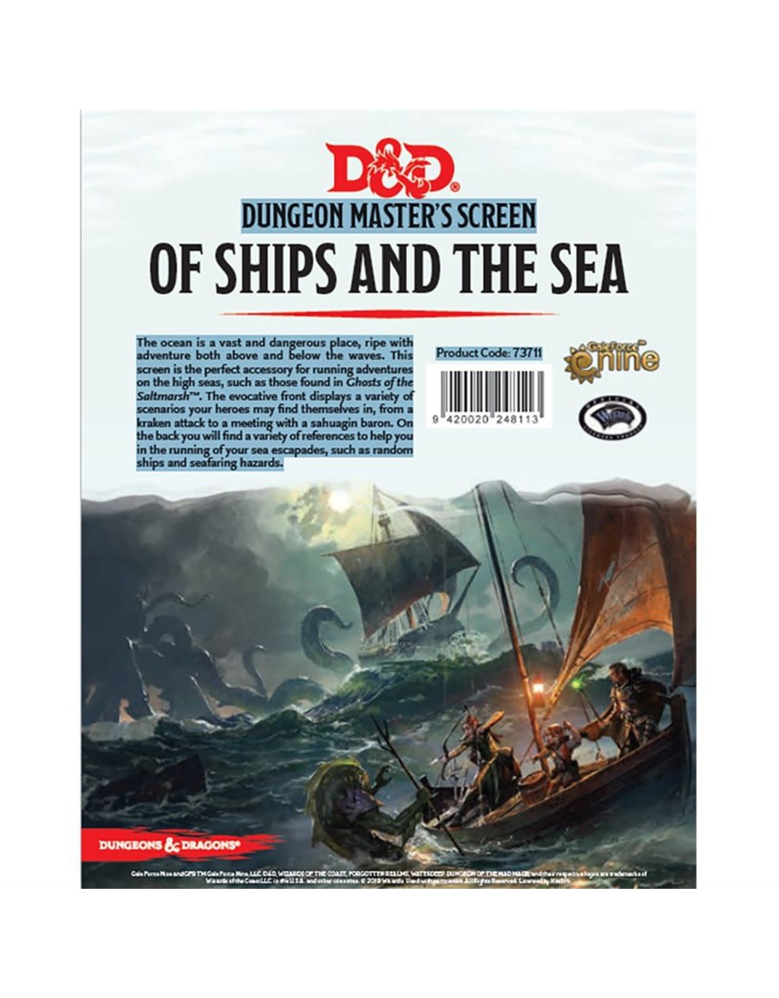 Gale Force Nine D&D 5E: OF SHIPS & SEAS DM SCREEN