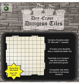 Roll 4 Initiative DRY ERASE DUNGEON TILES 9 10'' SQUARES