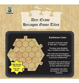 Roll 4 Initiative Dungeon Tiles: Earthtone Dry-Erase 33 6 inch Hexagons