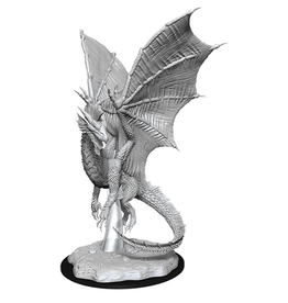 Wizkids UNPAINTED MINIS WAVE 11:  YOUNG SILVER DRAGON