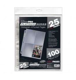 Ultra Pro ULTRA PRO PLATINUM SERIES 4-POCKET PAGES 25CT