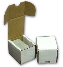 BCW WHITE STORAGE BOX - 100 COUNT
