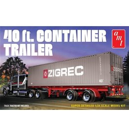 AMT Models 40' SEMI CONTAINER TRAILER MODEL KIT 1:24