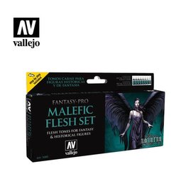VALLEJO MALEFIC FLESH PAINT SET