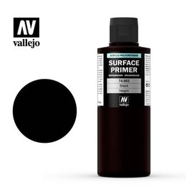 VALLEJO SURFACE PRIMER - BLACK - 200ML