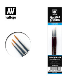 VALLEJO VALLEJO BRUSHES - PAINTER SET - SIZES 0,1,2