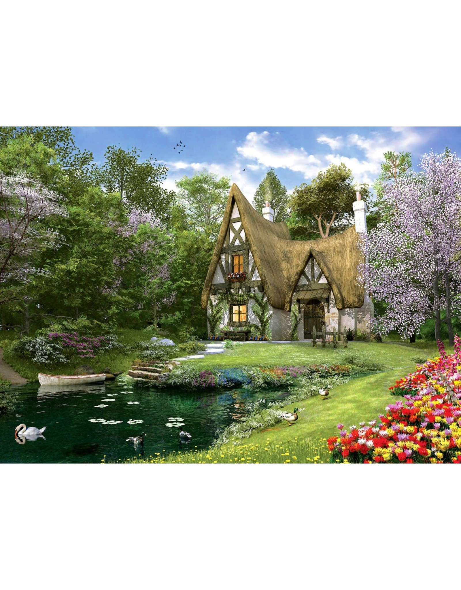 Anatolian 3000PC PUZZLE - SPRING LAKE COTTAGE
