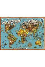 Anatolian 1000PC PUZZLE - BUTTERFLY WORLD MAP