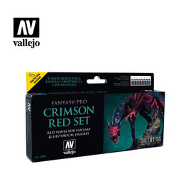 VALLEJO CRIMSON RED 8 COLOR SET