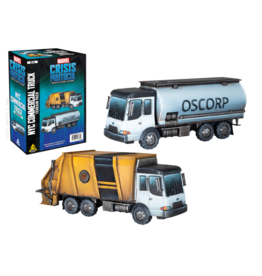 ATOMIC MASS GAMES MARVEL CRISIS PROTOCOL: GARBAGE TRUCK/CHEM TRUCK TERRAIN EXPANSION