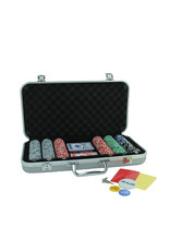 Wood Expressions 300 CHIPS SILVER ALUMINUM POKER SET