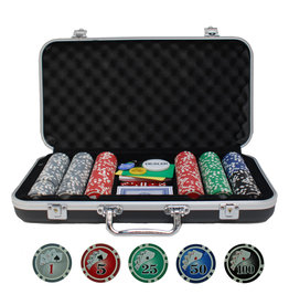 Wood Expressions 300 CHIPS BLACK ALUMINUM POKER SET