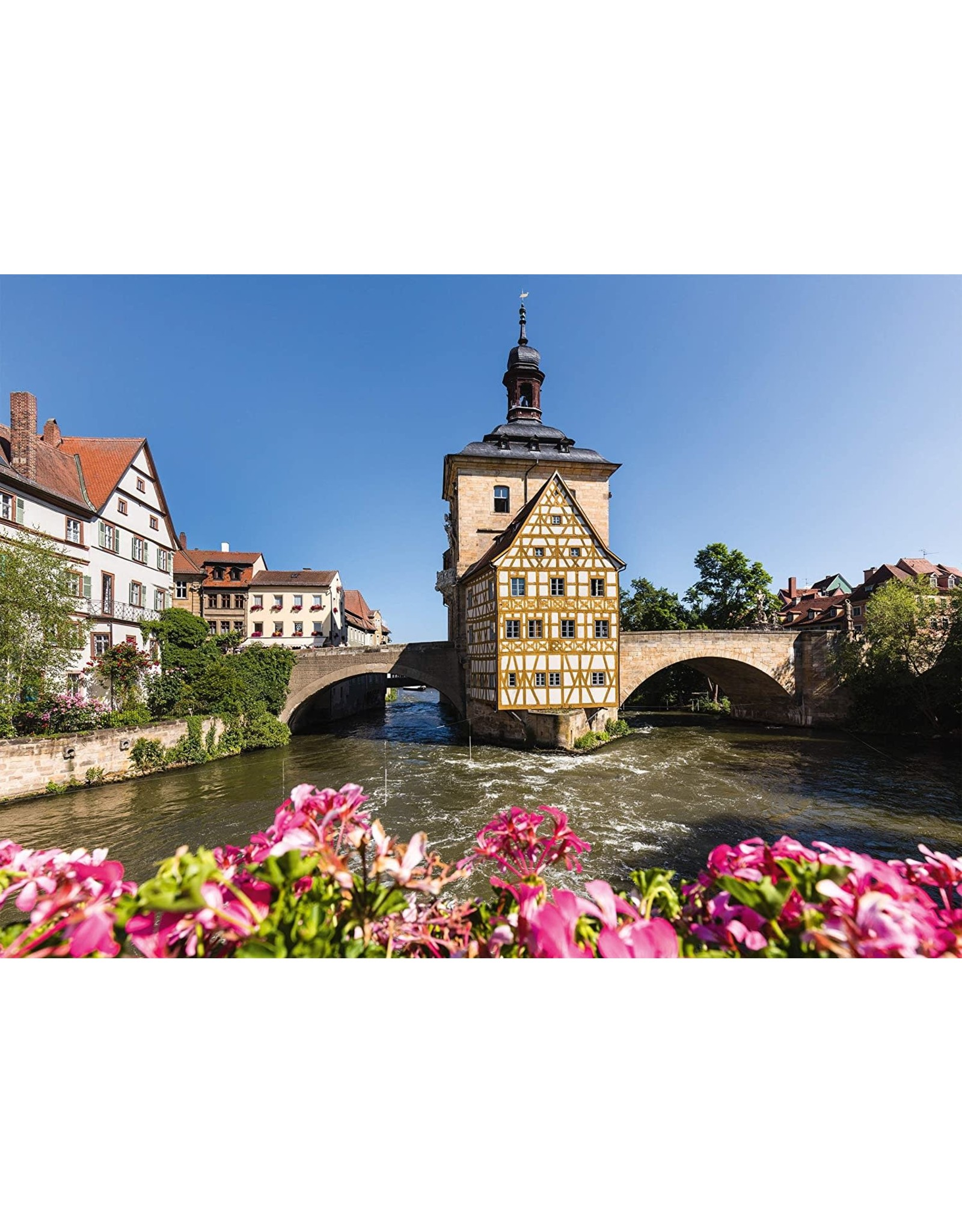 Schmidt 1000PC PUZZLE - BAMBERG, REGNITZ & OLD TOWN HALL