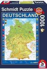 Schmidt 1000PC PUZZLE - MAP OF GERMANY