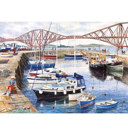 Gibsons 1000PC PUZZLE - QUEENSFERRY HARBOUR