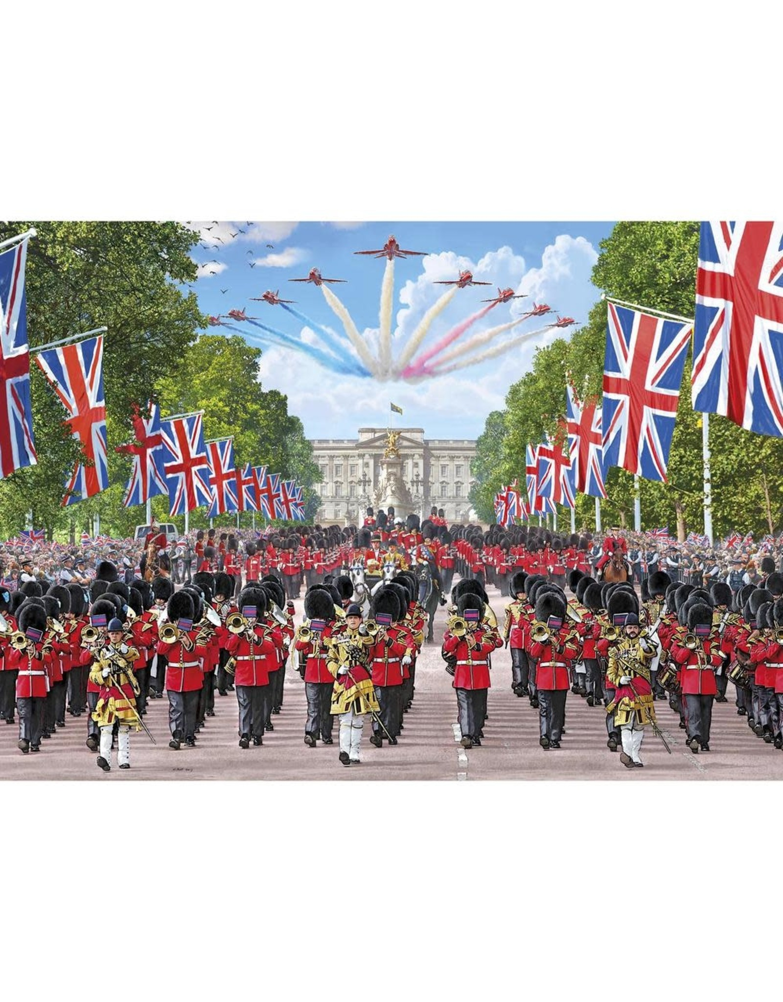 Gibsons 1000PC PUZZLE - TROOPING THE COLOUR