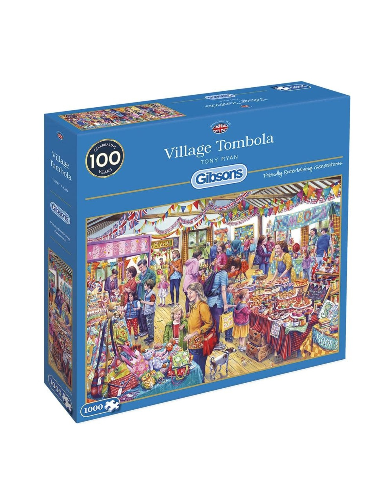 Gibsons 1000PC PUZZLE - VILLAGE TOMBOLA