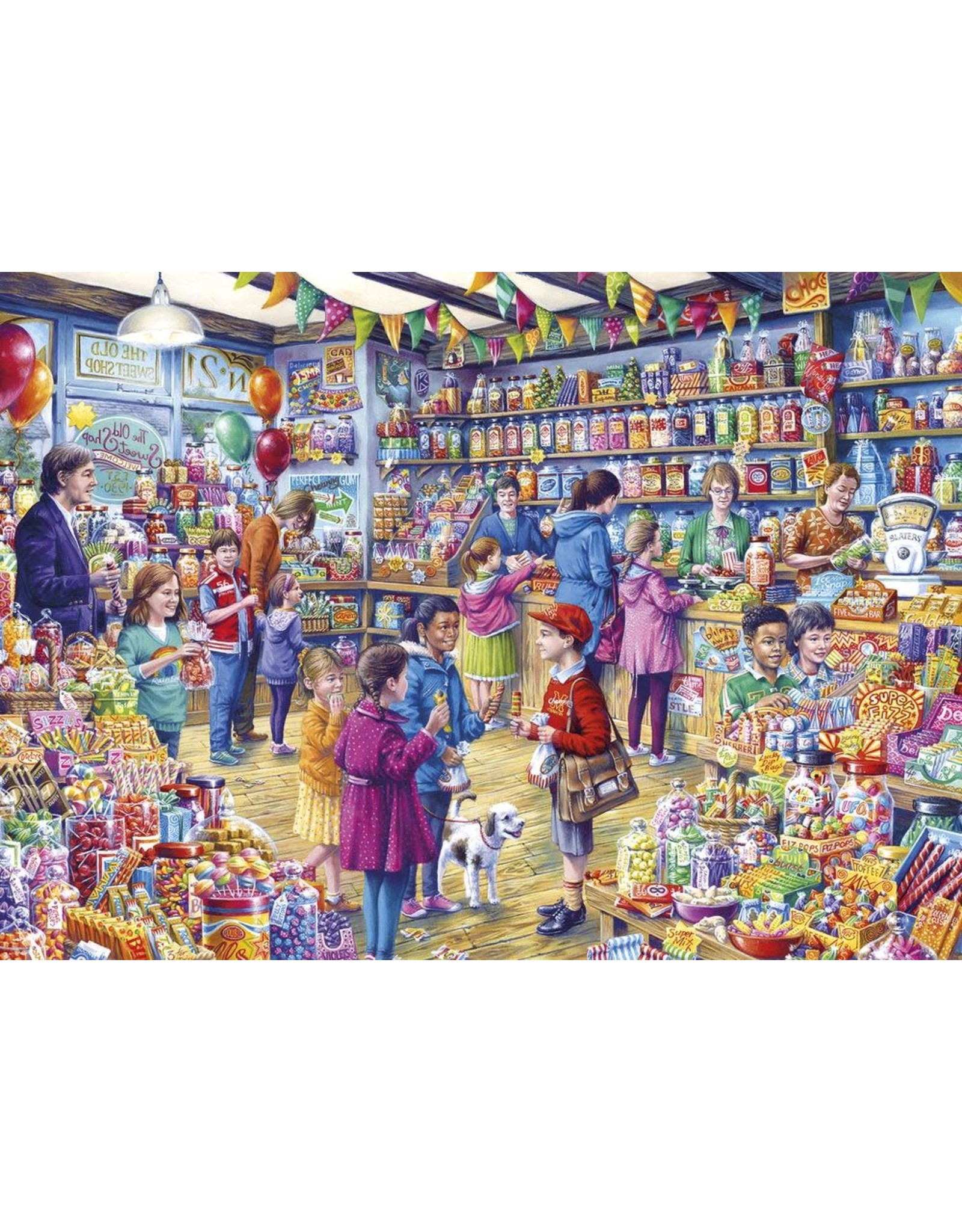 Gibsons 1000PC PUZZLE - THE OLD SWEET SHOP