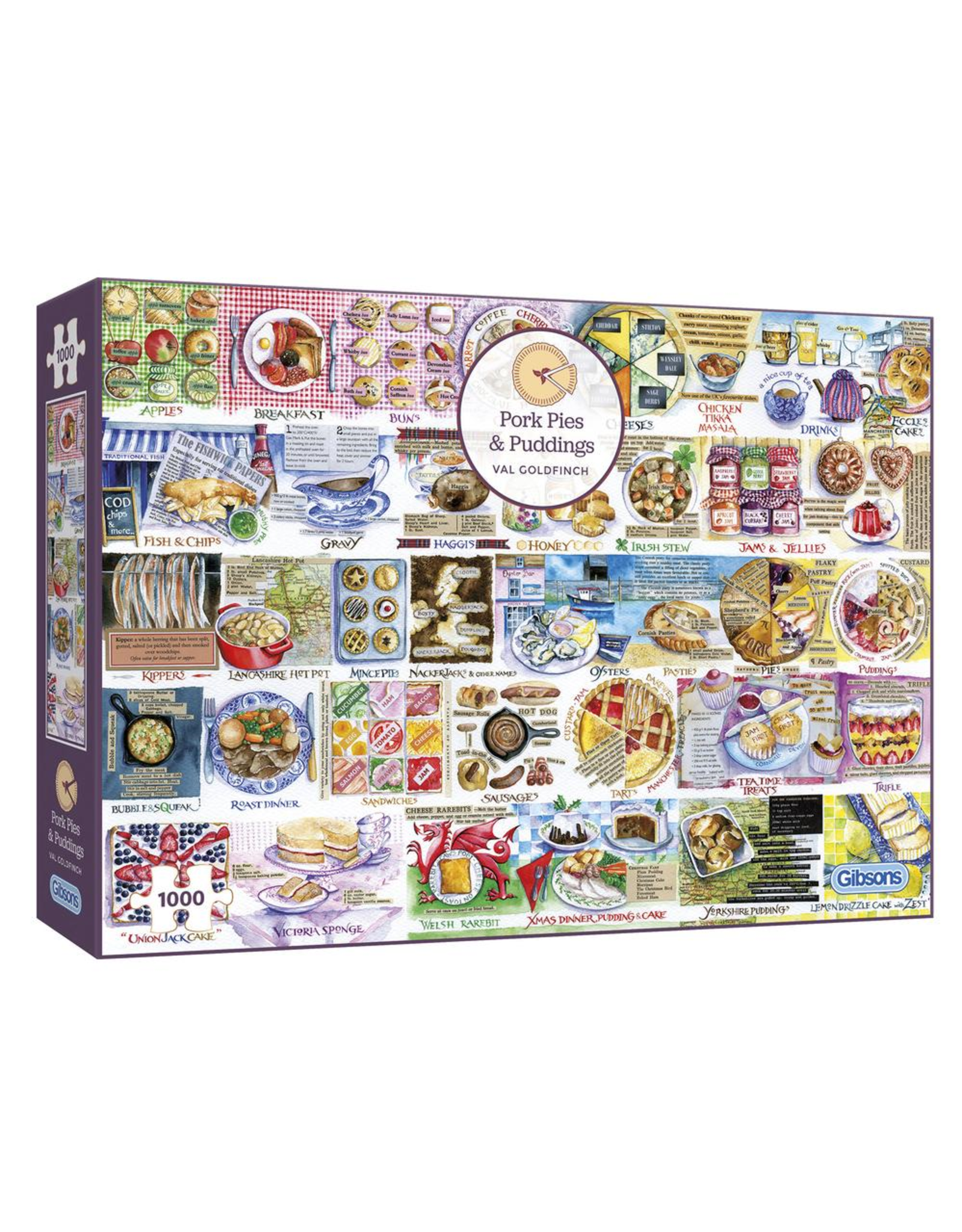 Gibsons 1000PC PUZZLE - PORK PIES & PUDDINGS