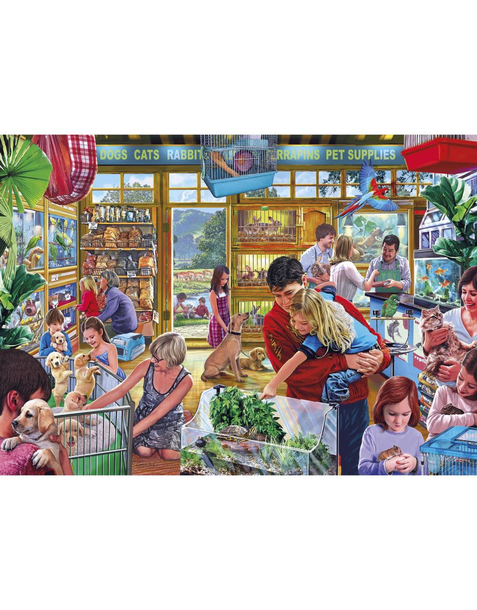 Gibsons 1000PC PUZZLE - FURRY FRIENDS