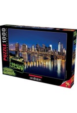 1000PC PUZZLE - BROOKLYN BRIDGE GLOW IN DARK