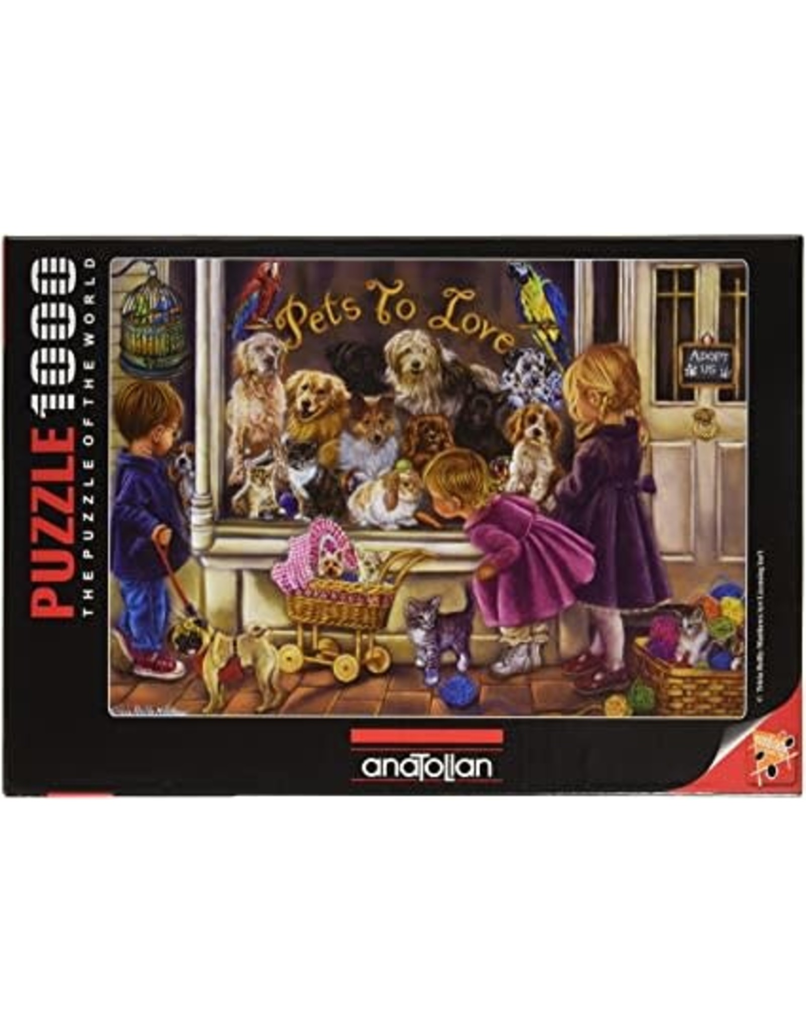 1000PC PUZZLE - PETS TO LOVE