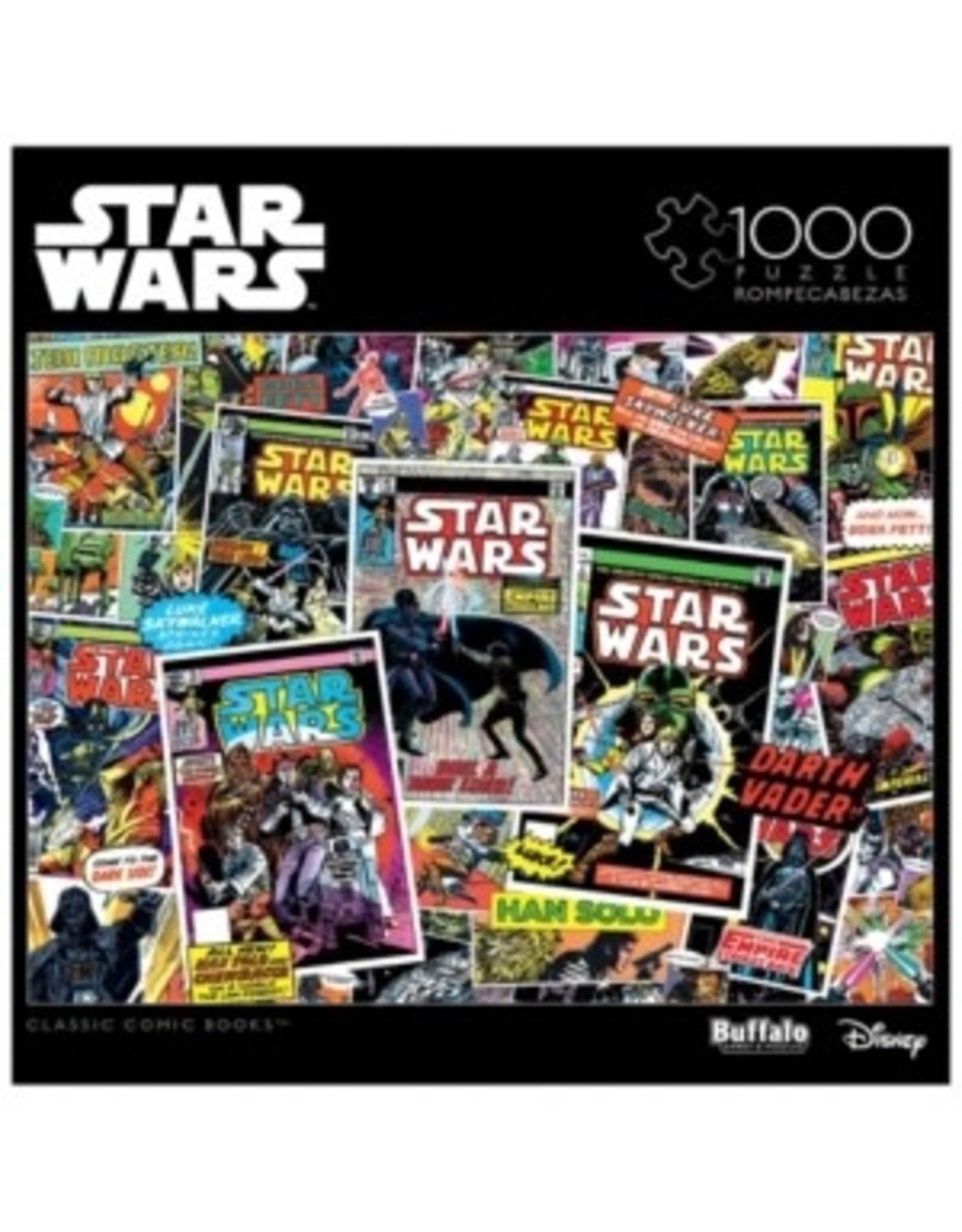 1000PC PUZZLE - STAR WARS CLASSIC COMIC BOOKS
