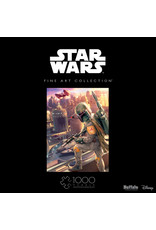 1000PC PUZZLE - STARWARS FINE ART BOBA FETT