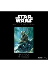 1000PC PUZZLE - STARWARS FINE ART YODA