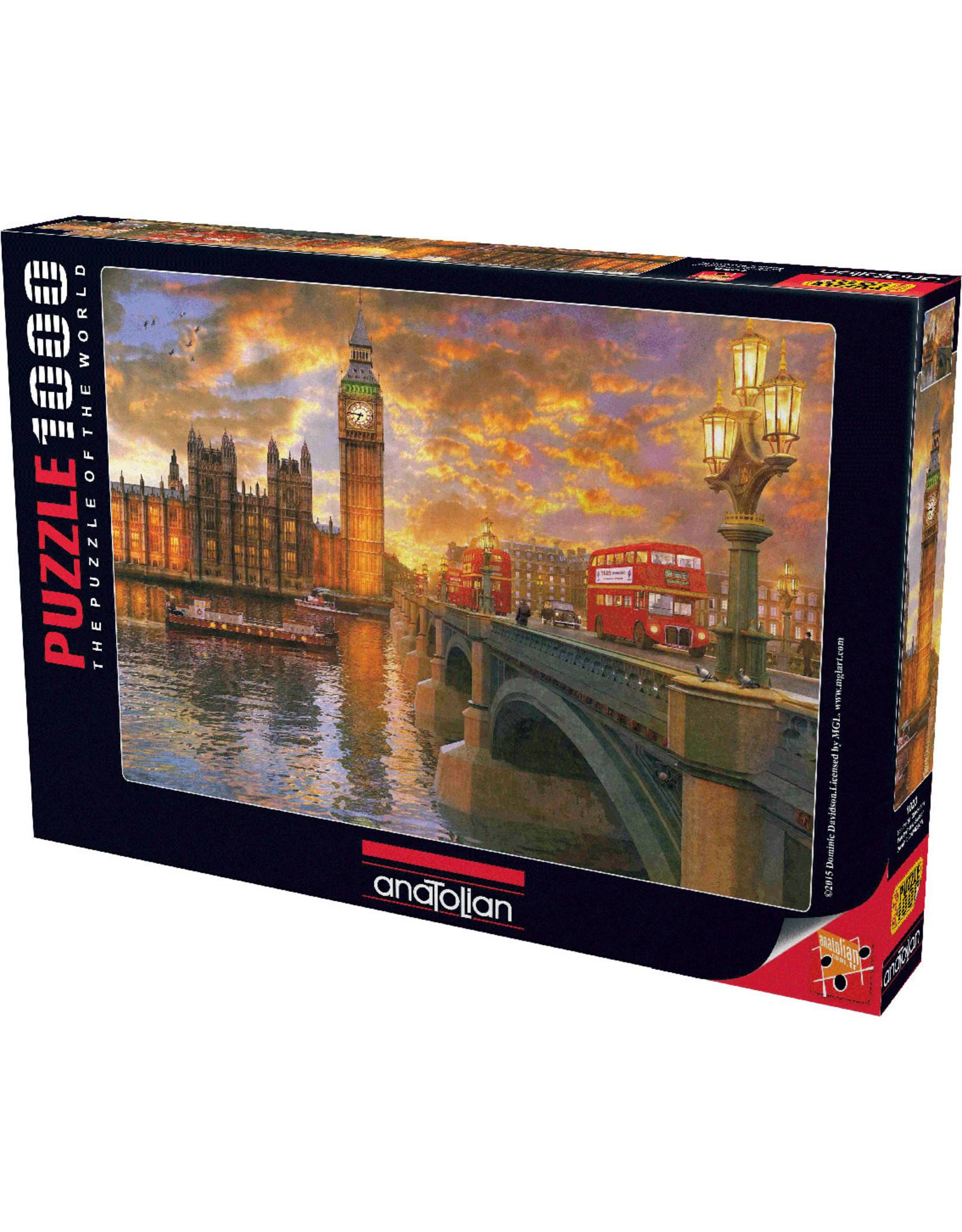 1000PC PUZZLE - WESTMINSTER SUNSET
