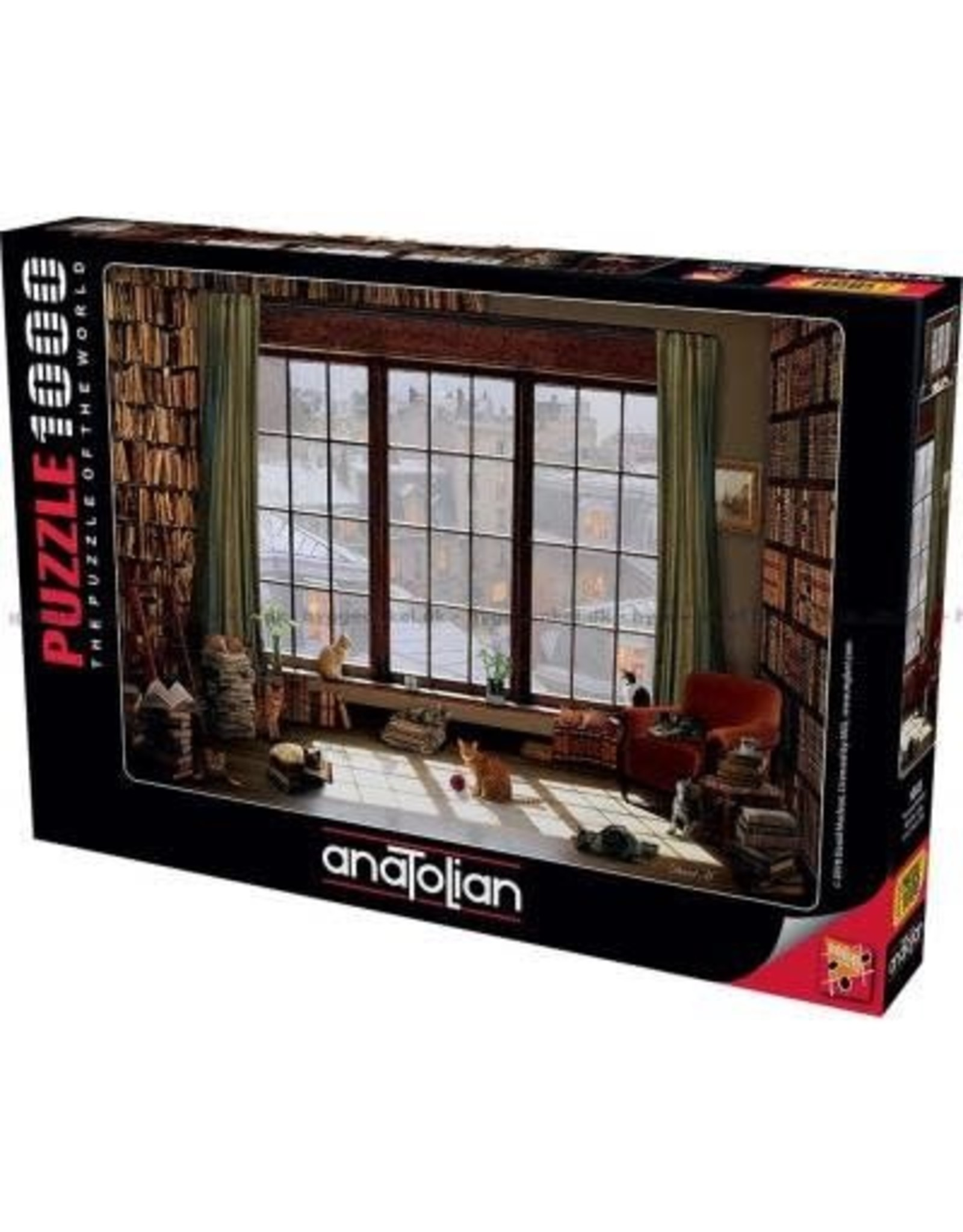 Anatolian 1000PC PUZZLE - WINDOW CATS